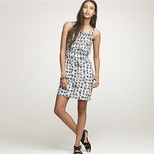 J Crew Knotted Starfish Dress Size 4 Cotton Silk